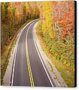 Curvy Road Blue Ridge Parkway, North Carolina Canvas Print by Lightvision, LLC