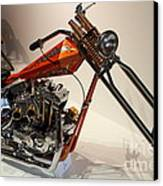 Custom Motorcycle Chopper . 7d13319 Canvas Print by Wingsdomain Art and Photography