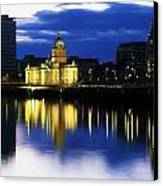 Customs House And Liberty Hall, River Canvas Print by The Irish Image Collection
