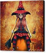 Cutest Little Witch Canvas Print by Jutta Maria Pusl