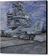 Cvn 65 Uss Enterprise Canvas Print by Sarah Howland-Ludwig