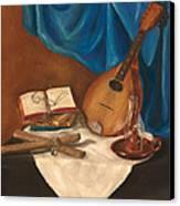 Dad's Mandolin Canvas Print by Kathy Wood
