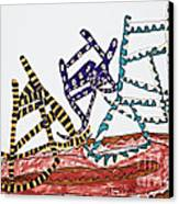 Dancing Chairs Canvas Print by Stephanie Ward
