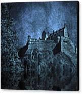 Dark Castle Canvas Print by Svetlana Sewell