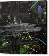 Dark Space Canvas Print by Ethel Vrana
