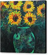 Darkened Sun Canvas Print by Carrie Jackson