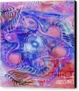 Darkness In The Mind Canvas Print by Deborah Benoit