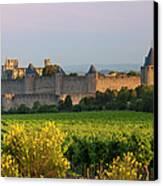 Dawn In Carcassonne Canvas Print by Brian Jannsen