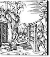 De Re Metallica, Bellows, 16th Century Canvas Print by Science Source