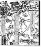De Re Metallica, Mine Shafts, 16th Canvas Print by Science Source