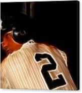 Derek Jeter II- New York Yankees - Baseball  Canvas Print by Lee Dos Santos