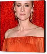 Diane Kruger Wearing A J. Mendel Dress Canvas Print by Everett