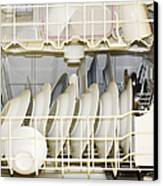 Dishes In A Dishwasher Canvas Print by David Buffington