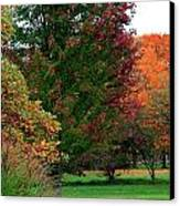 Distant Fall Color Canvas Print by Scott Hovind