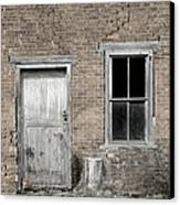 Distressed Facade Canvas Print by John Stephens