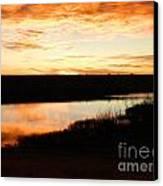 Dixon Reservoir Sunrise Canvas Print by Sara  Mayer