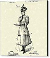 Dockham Bicycle Skirt 1896 Patent Art  Canvas Print by Prior Art Design