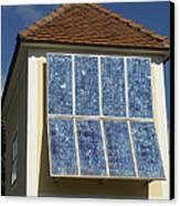 Domestic Solar Panel Canvas Print by Friedrich Saurer