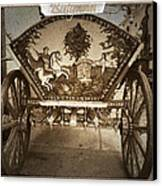 Donkey Cart Canvas Print by Cliff  Norton