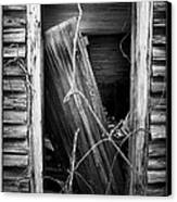 Door Bw Canvas Print by Mark Wagoner