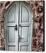 Door In Santorini Canvas Print by Tom Prendergast