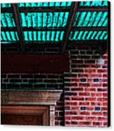 Door With Green Overhang Canvas Print by HD Connelly