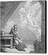 Dor�: The Annunciation Canvas Print by Granger