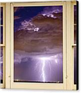 Double Lightning Strike Picture Window Canvas Print by James BO  Insogna