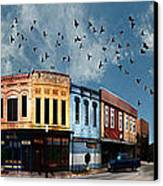 Downtown Bryan Texas 360 Panorama Canvas Print by Nikki Marie Smith