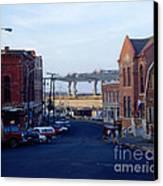 Downtown Eastport Maine Canvas Print by Geri Harkin-Tuckett