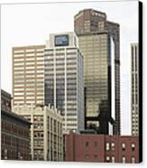 Downtown Office Buildings Canvas Print by Roberto Westbrook