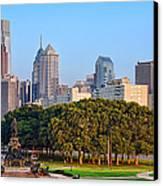 Downtown Philadelphia Skyline Canvas Print by Olivier Le Queinec