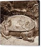 Dragon Turtle Figure Canvas Print by Yurix Sardinelly