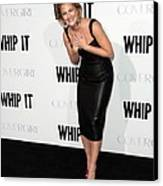 Drew Barrymore Wearing A Lwren Scott Canvas Print by Everett