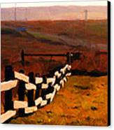 Driving Down The Lonely Road . Long Version Canvas Print by Wingsdomain Art and Photography