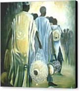 Drummers' Return Canvas Print by David Omotosho