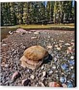 Dry Lake Canvas Print by Bonnie Bruno