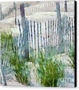 Dune Fences At Cape Hatteras National Seashore Canvas Print by Anne Kitzman
