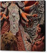 Durga Goddess 2012 Canvas Print by Rajan Advani