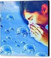Dust Mite Allergy, Conceptual Artwork Canvas Print by Hannah Gal