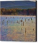 Early Morning Color Of Lake Wilhelmina-arkansas Canvas Print by Douglas Barnard