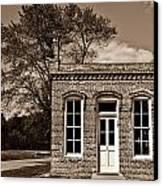Early Office Building Canvas Print by Douglas Barnett