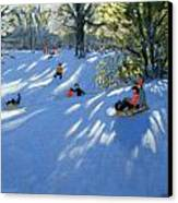 Early Snow Canvas Print by Andrew Macara