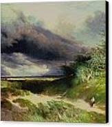 East Hamptonlong Island Sand Dunes Canvas Print by Thomas Moran