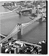 East River Bridges New York Canvas Print by Gary Eason