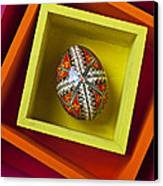 Easter Egg In Box Canvas Print by Garry Gay