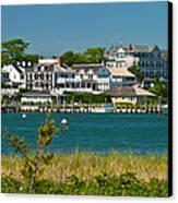 Edgartown Harbor Marthas Vineyard Massachusetts Canvas Print by Michelle Wiarda