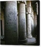 Egypt: Temple Of Hathor Canvas Print by Granger