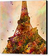 Eiffel Tower  Canvas Print by Mark Ashkenazi