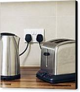 Electric Kettle And Toaster Canvas Print by Johnny Greig